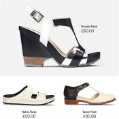 Chic comes in black and white at Clarks Offer