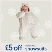 Save £5 on cosy Snowsuits at Mothercare Offer