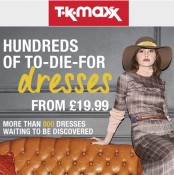 Dresses are less at TK Maxx Offer