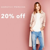 Shop and save 20% in store at Dorothy Perkins Offer