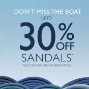 Clarks has 30% off sandals in store Offer